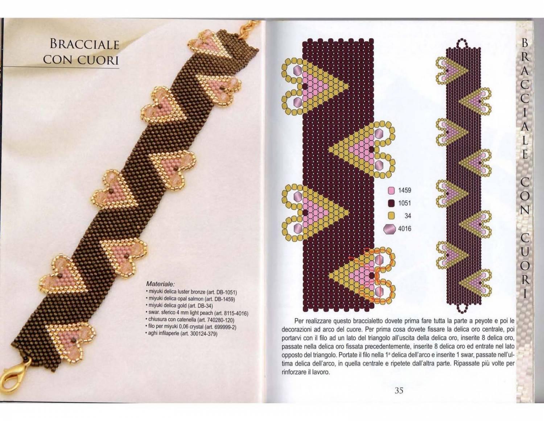 Схема плетения прямого браслета из бисера с именем
